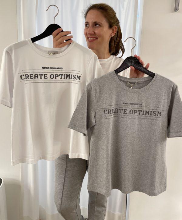 "Margittes T-Shirt ""Create Optimism"""
